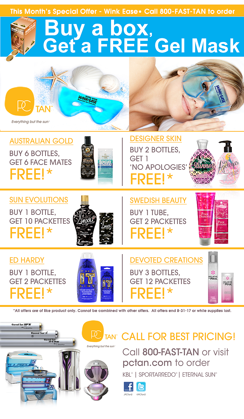 PC Tan August Specials